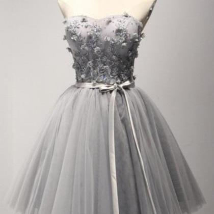 Light Gray Homecoming Dress Sweethe..