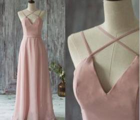 V-neck Bridesmaid Dr..