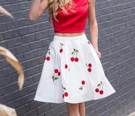 Cute Two Piece Red H..