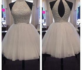 Halter Beaded Tulle ..