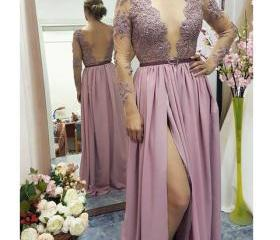 Lace Appliqed Prom D..