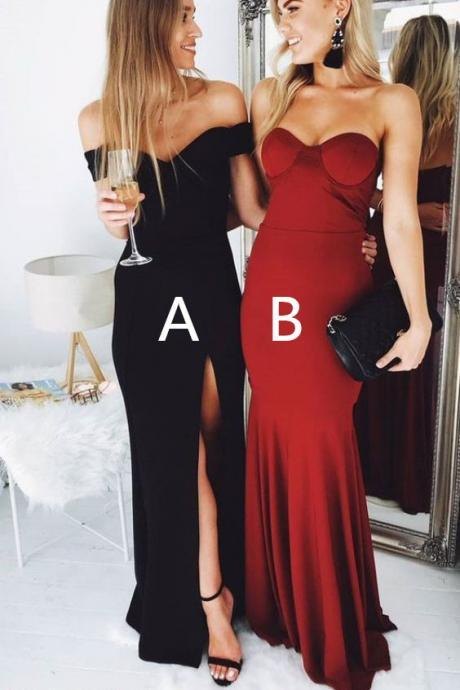 Fashion Mermaid Party Dress for Teens,Cheap Evening Gowns,Floor Length Prom Gowns,Long Prom Dresses P253