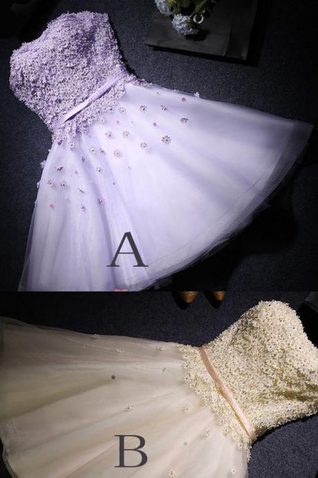 A-line Party Prom Dresses Short Strapless Dresses With Lace Up Bandage Mini Excellent Homecoming Dresses H185