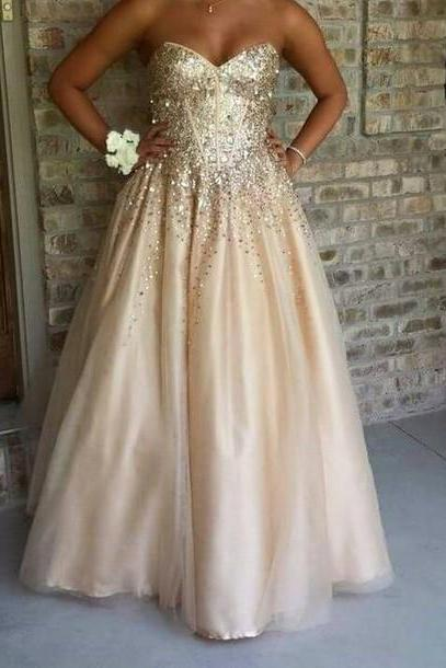 Real Made Beading Prom Dresses, Floor-Length Evening Dresses,Prom Dresses,XC23