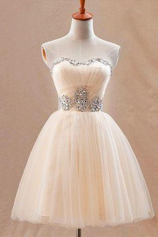 Real Made Sweetheart Short Prom Dresses, Beading Homecoming Dresses,Homecoming Dresses,HC3