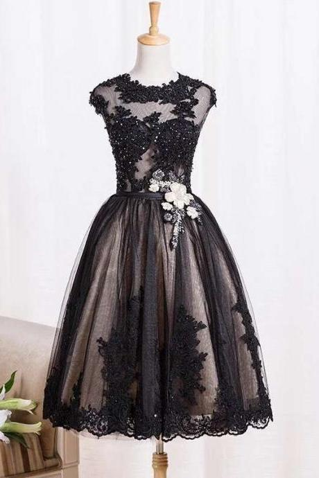 Lace And Appliques Short Prom Dresses,Charming Homecoming Dresses,Homecoming Dresses,ST231