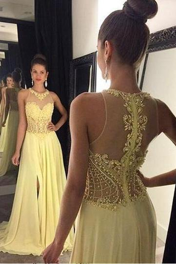 Charming Beading A-Line Prom Dresses, Floor-Length Evening Dress,Prom Dresses,ST290