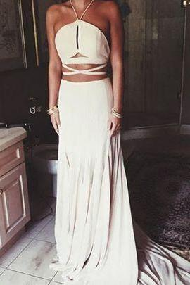 Halter Charming Custom Made Prom Dresses, Floor-Length Evening Dress,Prom Dresses,SV06