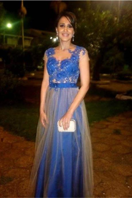 Royal Blue Prom Dresses, Sexy Evening GownsTulle ,Party Dresses,Mermaid Prom Gowns,Long Formal Dress